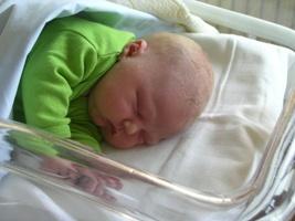 De kleine Beernd slaapt hier ff lekker uit